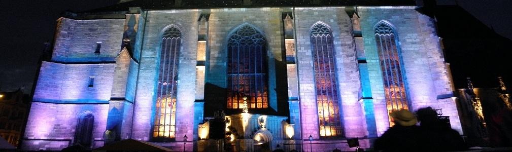 nasvícení kostela sv. Bartoloměje