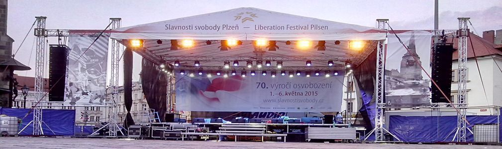 slideshow zvuk, světla, stage, pódium